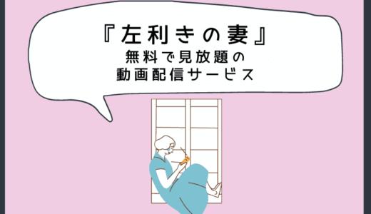 左利きの妻を日本語字幕付き無料で見放題できる動画配信サービス