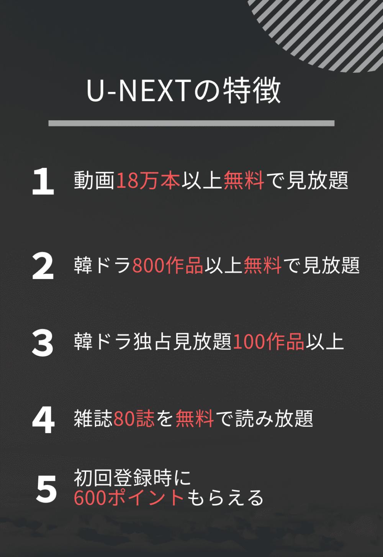 U-NEXT特徴